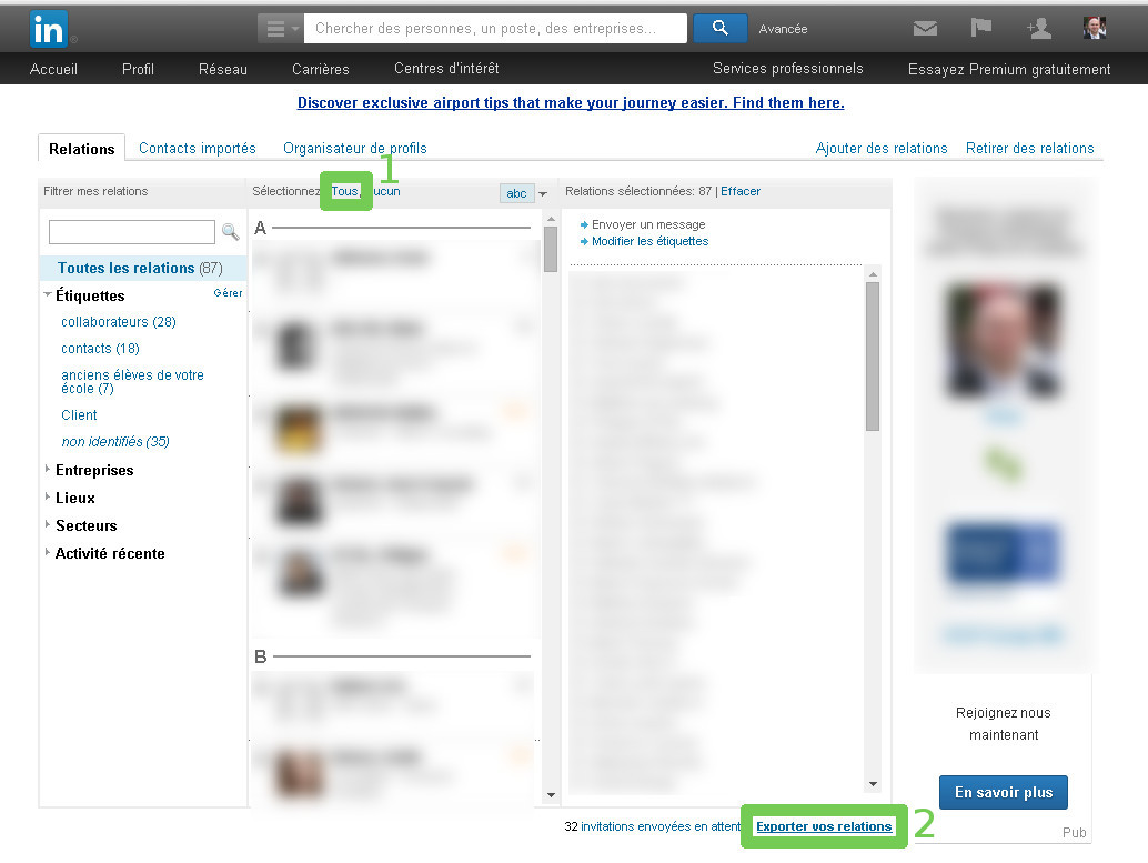retirer contact linkedin